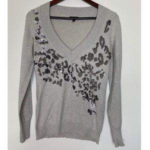 Express gray sweater with sequins